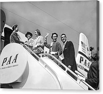 Passengers Board Panam Clipper Canvas Print by Underwood Archives