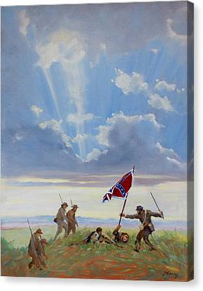 Carnton Plantation Canvas Print - Passing On The Blood Stained Banner by Sandra Harris