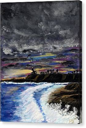 Canvas Print featuring the painting Passing Storm by Gary Brandes