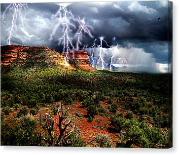 Passing Storm Near Sedona Arizona Canvas Print by Ric Soulen