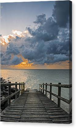 Canvas Print featuring the photograph Passing Storm by Trevor Chriss