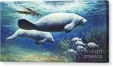 Fish Underwater Canvas Print - Passing Time by Laurie Hein