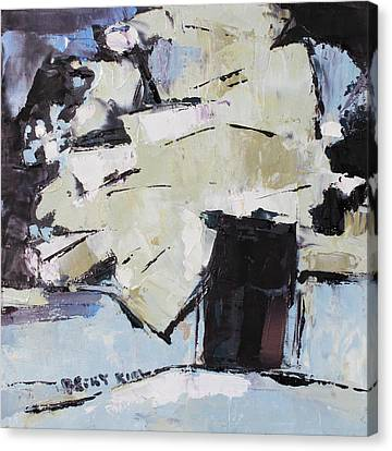 Pallet Knife Canvas Print - Passion 3 by Becky Kim