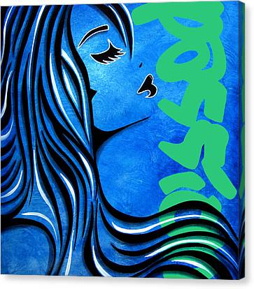Abstract Art On Canvas Print - Passion By Fidostudio by Tom Fedro - Fidostudio