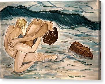 Passion Of Love. Canvas Print by Shlomo Zangilevitch
