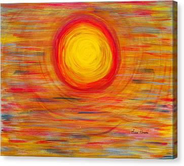 Passion Sun Canvas Print