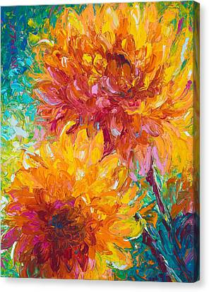 Garden Flowers Canvas Print - Passion by Talya Johnson