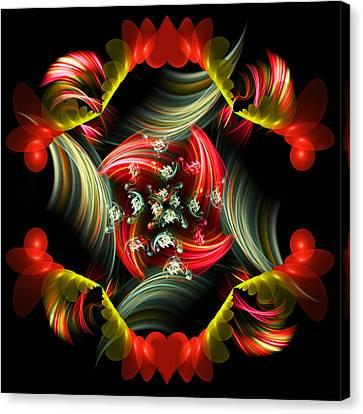 Algorythm Canvas Print - Passionate Love Bouquet Abstract by Georgiana Romanovna