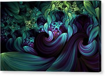 Algorythm Canvas Print - Passionate Mindfulness by Georgiana Romanovna
