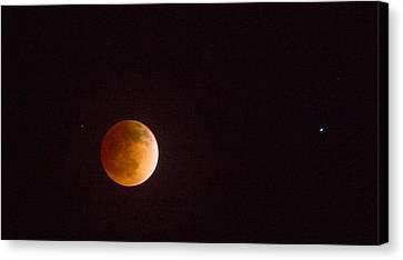 Passover Blood Moon II Canvas Print by Carolina Liechtenstein