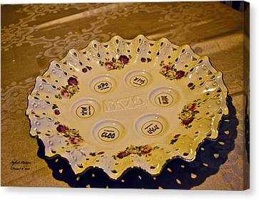 Passover Seder Plate2 Canvas Print