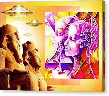 Past And Future Legends Canvas Print by Hartmut Jager