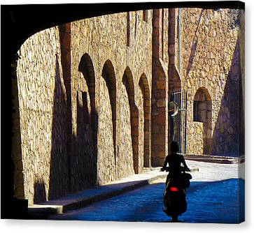 Past And Present Canvas Print by Douglas J Fisher