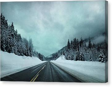 Past The Hills  Canvas Print by Empty Wall
