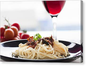 Pasta Putanesca Canvas Print by Mythja  Photography