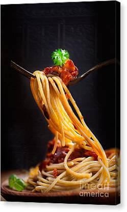 Pasta With Tomato Sauce Canvas Print