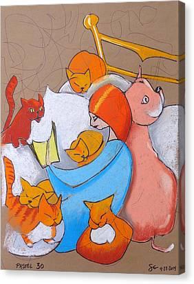 Pastel 30 - Good Book Canvas Print