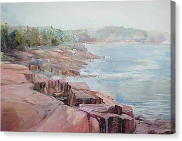 Pastel Cove Canvas Print by P Anthony Visco