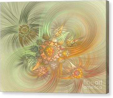 Pastel Delicate Pattern Canvas Print by Deborah Benoit