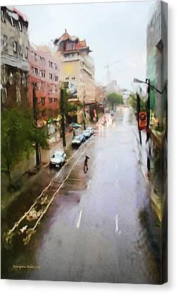 Pastel Drizzle Canvas Print by Aleksander Rotner