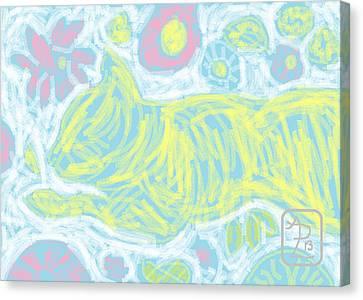 Pastel Floral Gini Canvas Print by Anita Dale Livaditis