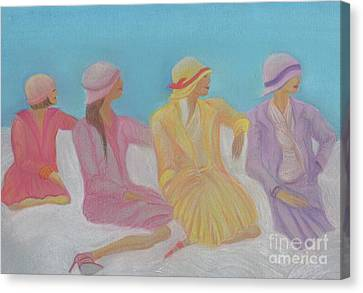Pastel Hats By Jrr Canvas Print by First Star Art