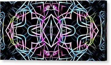 Pastel Kaleidoscope On Black  Canvas Print by Gina Lee Manley