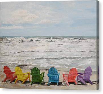 Canvas Print featuring the painting Pastel Paradise by Sandra Nardone