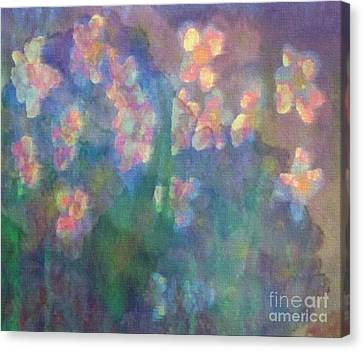 Pastel Petals Canvas Print by Holly Martinson