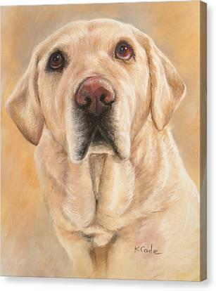 Pastel Portrait Canvas Print by Karen Cade
