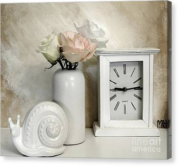 Pastel Rose Bouquet Canvas Print by Marsha Heiken