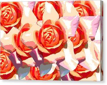 Pastel Roses Canvas Print by Diana Burlan