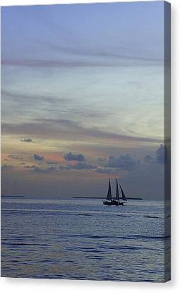 Canvas Print featuring the photograph Pastel Sky by Laurie Perry