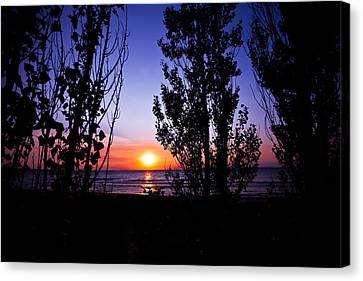 Pastel Sun Canvas Print by Jason Naudi Photography