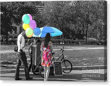 Pastels In The Park Canvas Print