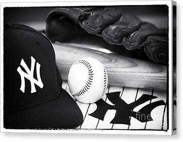 Baseball Glove Canvas Print - Pastime Essentials by John Rizzuto