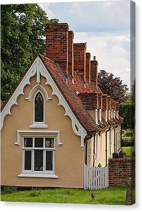 Pastoral Scene - Thaxted Almshouses Vertical Canvas Print by Gill Billington