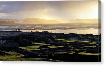 Canvas Print featuring the photograph Pastoral Symphony - Chambers Bay Golf Course by Chris Anderson