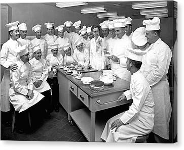 Tasting Canvas Print - Pastry Chef Class by Underwood Archives
