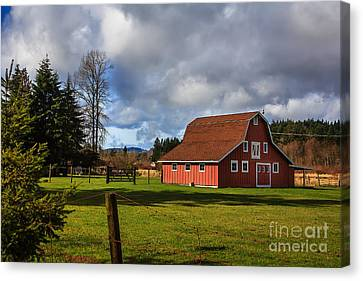 Canvas Print featuring the photograph Pasture For Rent by Jean OKeeffe Macro Abundance Art