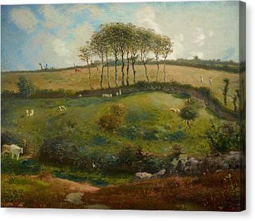 Pasture Near Cherbourg Canvas Print by Jean-Francois Millet