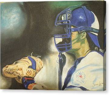 Pat Borders Canvas Print by James Holding