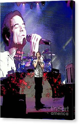 Pat Monahan Of Train Canvas Print by Cindy Manero