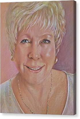 Canvas Print featuring the painting Pat Self Portrait by Patricia Schneider Mitchell