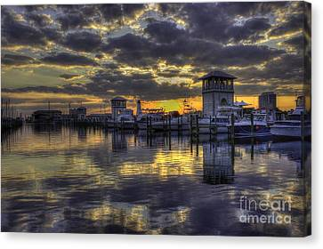 Patches In The Harbor Canvas Print