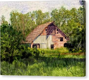 Patchwork Barn Canvas Print by Ric Darrell