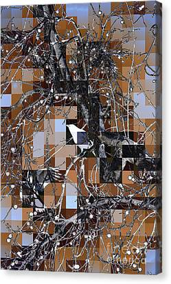 Canvas Print featuring the digital art Patchwork Crows by Denise Deiloh