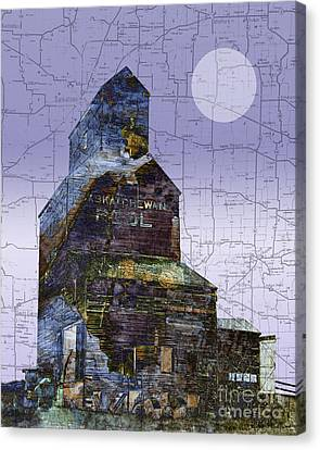Patchwork Elevator Canvas Print by Judy Wood