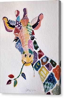 Patchwork Giraffe Canvas Print