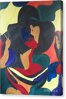Canvas Print featuring the painting Patchwork Velvet by Denise Tomasura